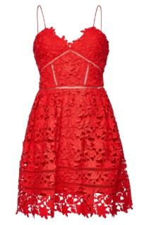SELF-PORTRAIT Azaelea Lace Mini Red Dress