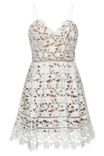 SELF-PORTRAIT Azaelea Lace Mini White Dress