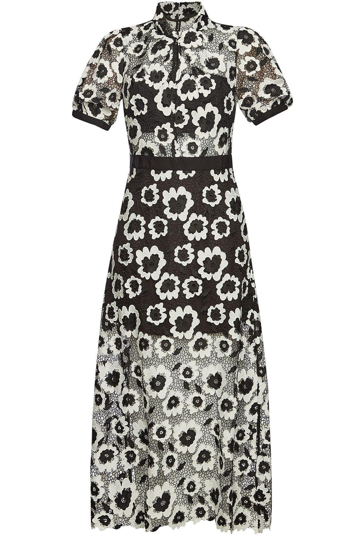 SELF-PORTRAIT Lace Maxi Black Dress