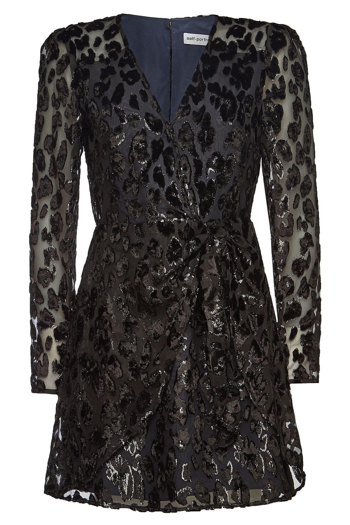 SELF-PORTRAIT Mini Black Dress