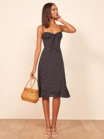 THEREFORMATION Addison Black Dress