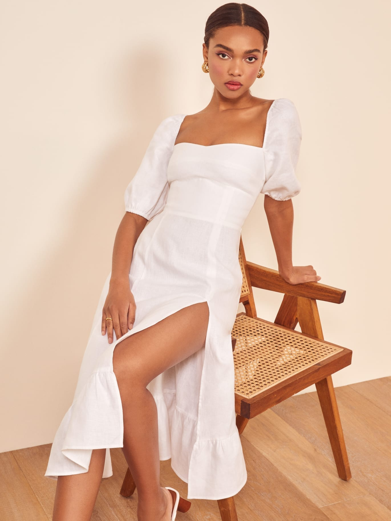 THEREFORMATION Belgium White Dress