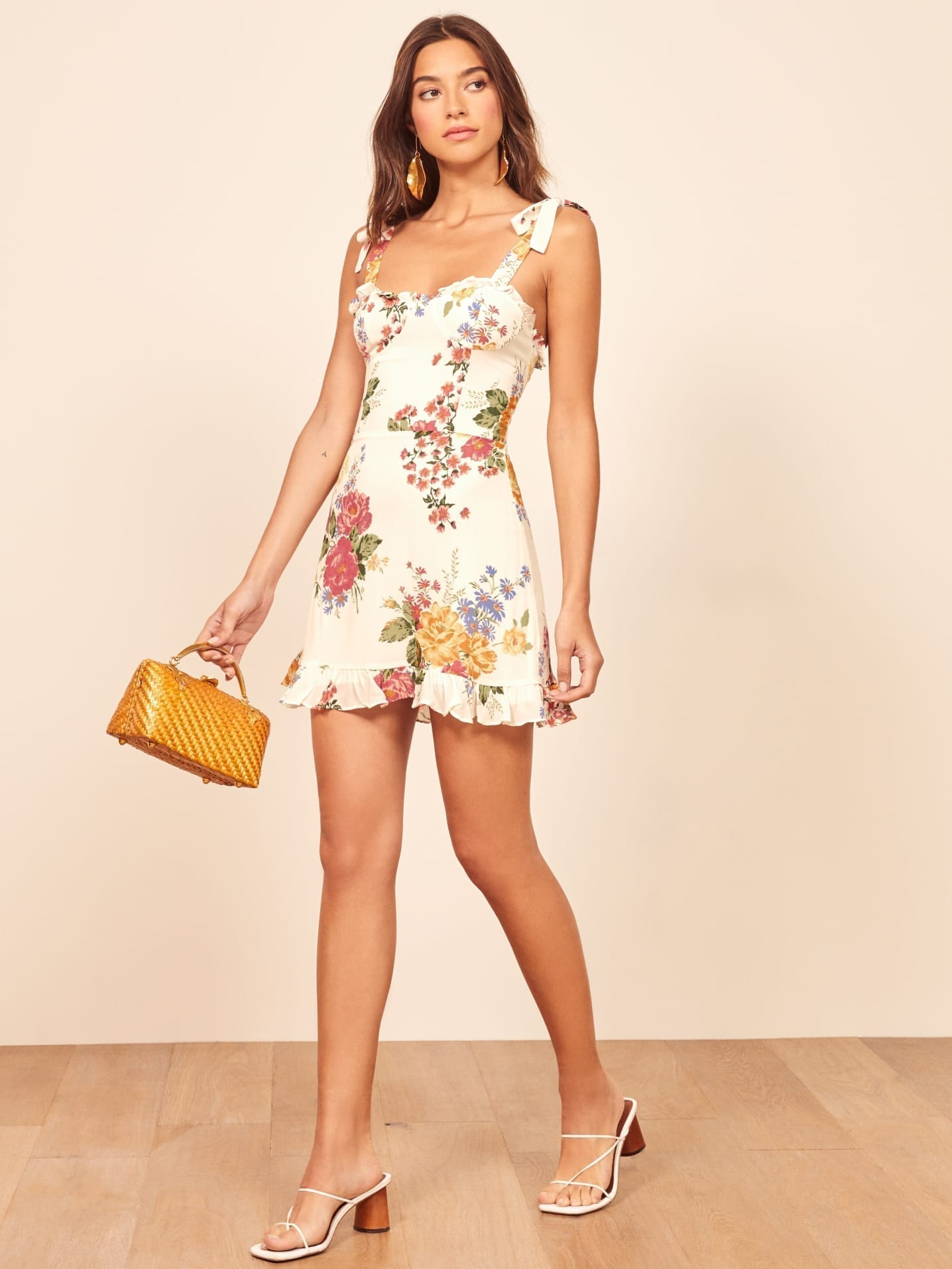 THEREFORMATION Christine White Dress