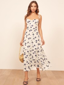 THEREFORMATION Emmie White Dress