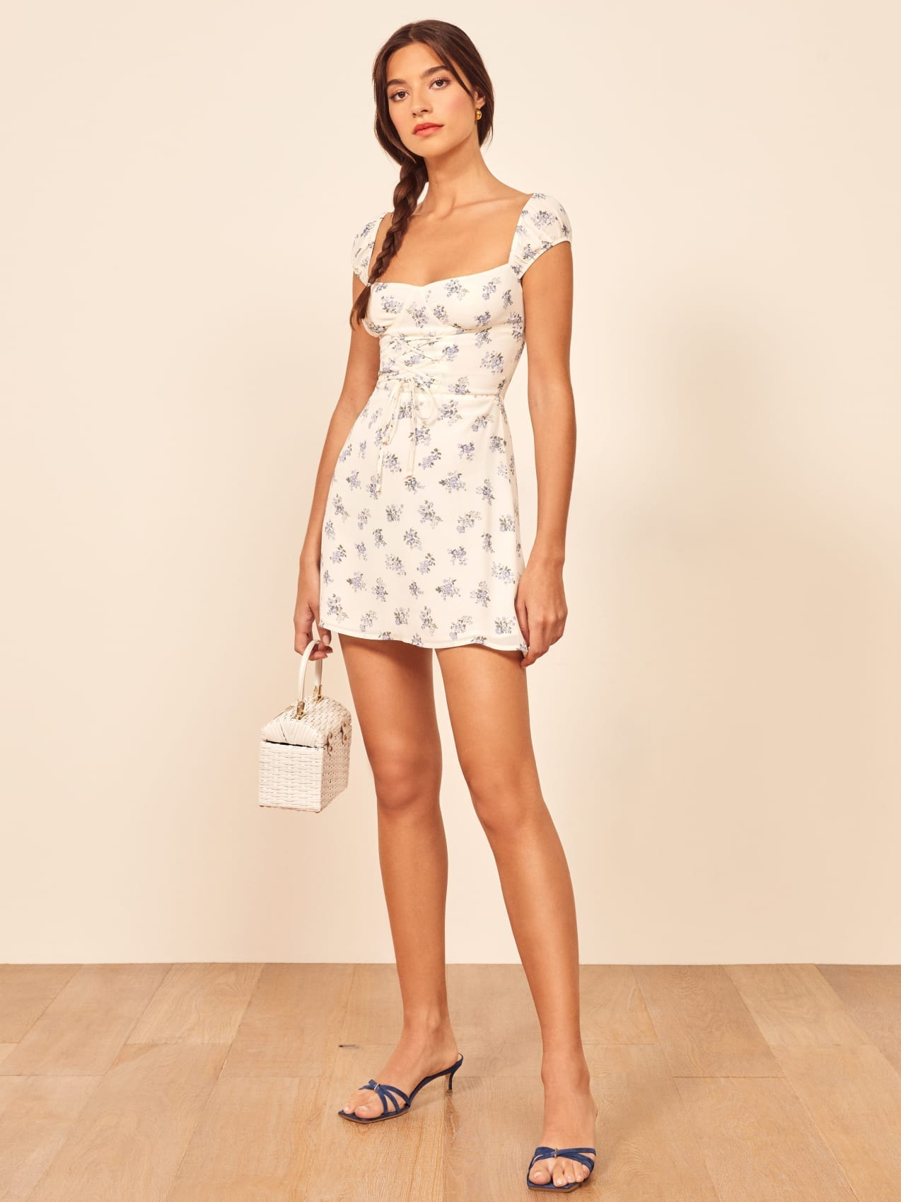 THEREFORMATION Jess White Dress
