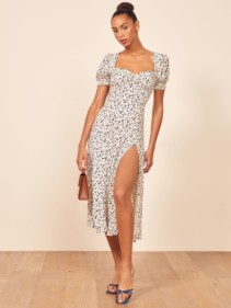 THEREFORMATION Lacey White Dress