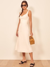 THEREFORMATION Sigrid Ivory Dress