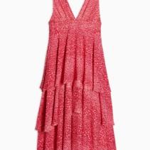 a6e6c7f28d63 TOPSHOP Pink Leopard Print Pinafore Tiered Midi Dress - We Select ...