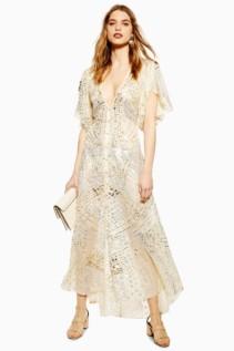 TOPSHOP Premium Embellished Midi Dress