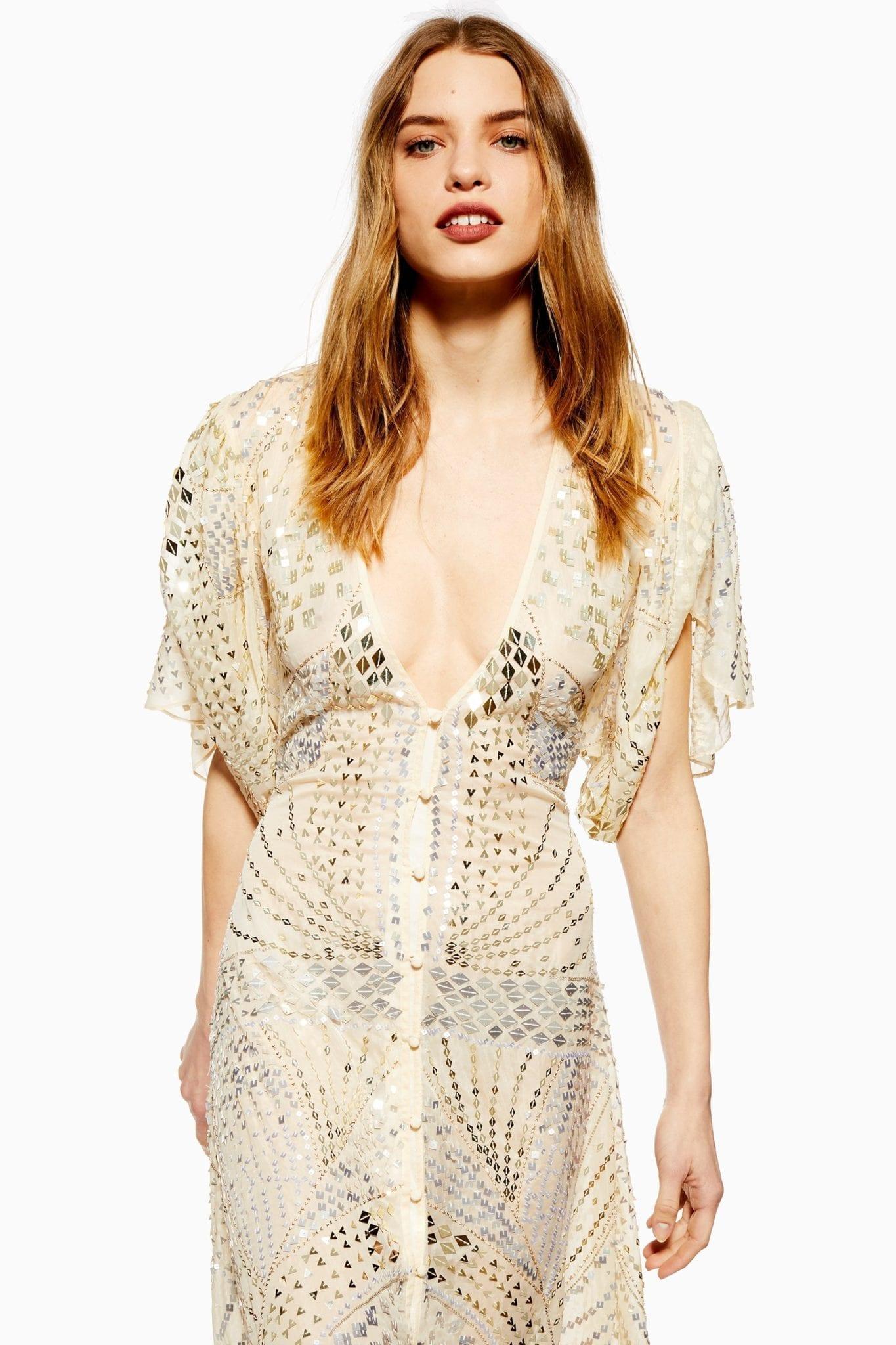 e9f5590026b5ca TOPSHOP Premium Embellished Midi Dress - We Select Dresses