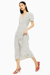 TOPSHOP Starlight Spot Smock Dress