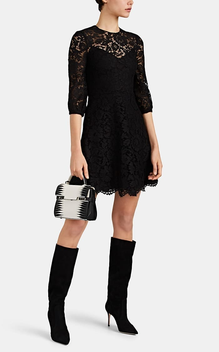 VALENTINO Lace Mini Black Dress