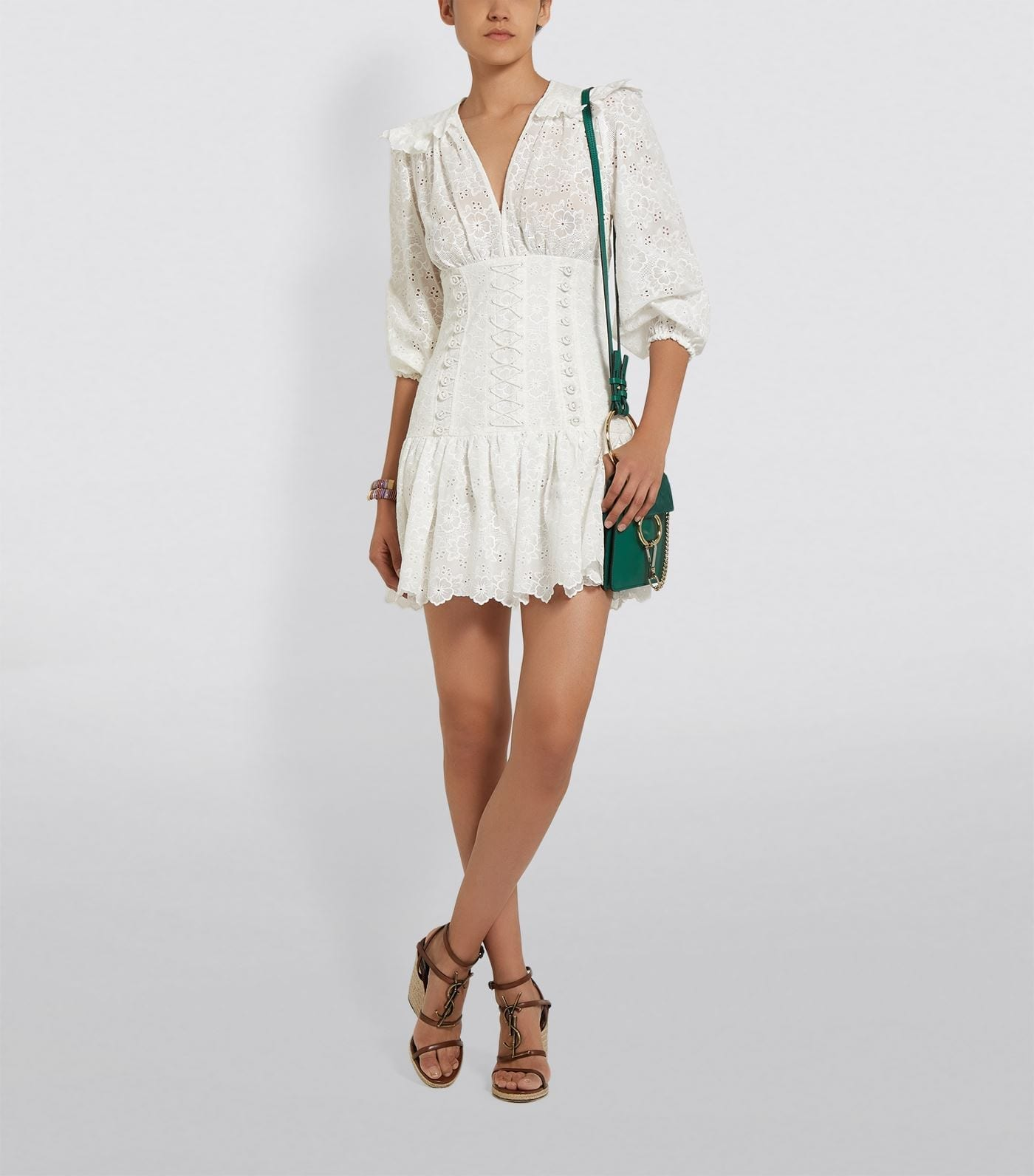 ZIMMERMANN Corset Lace Dress