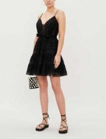 ZIMMERMANN Honour Embroidered Cotton Black Dress