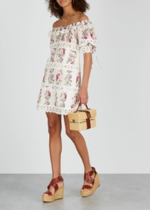 ZIMMERMANN Honour Floral-print Cotton Mini Dress