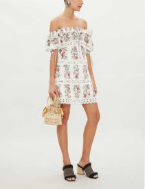 ZIMMERMANN Honour Pintuck Panel Cotton Cream Dress