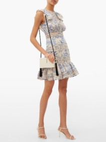 ZIMMERMANN Verity Floral-Print Cotton Mini Dress