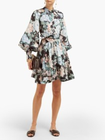 ZIMMERMANN Verity Floral-Print Linen Mini Dress