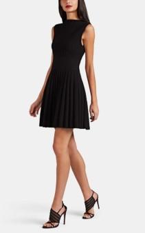 ALAÏA Compact Rib-Knit Wool-Blend Mini Dress