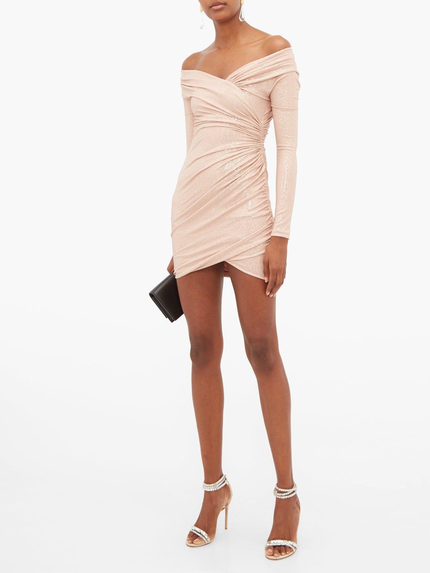 ALEXANDRE VAUTHIER Crystal-embellished Off-the-shoulder Jersey Dress