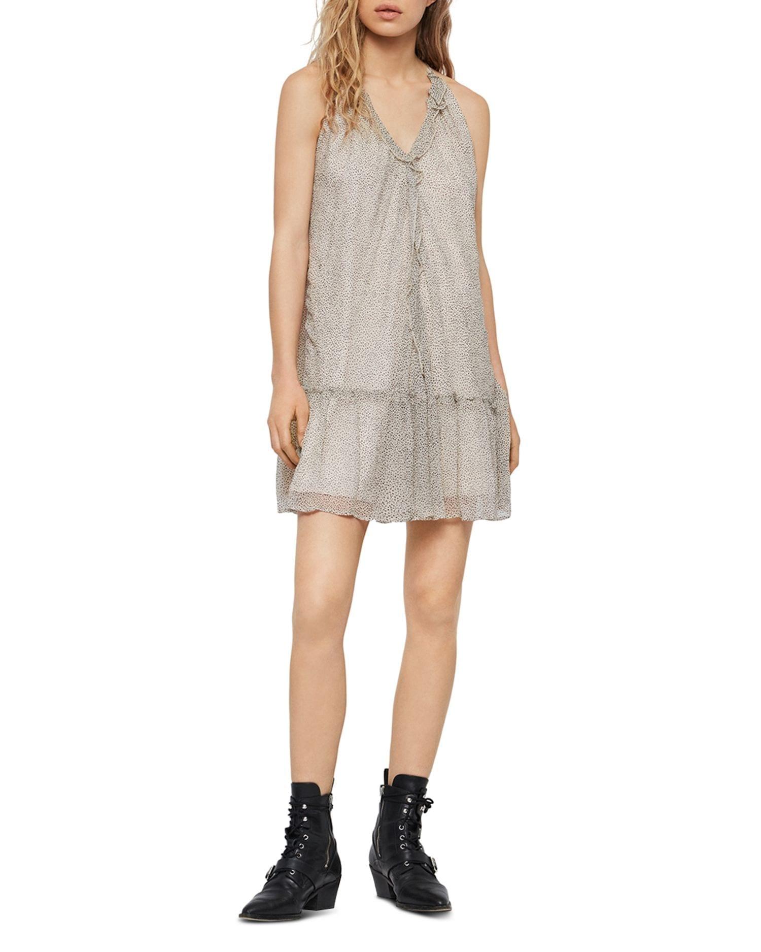 ALLSAINTS Maisie Speckle Halter Dress