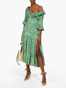 ALTUZARRA Helden Tiered Floral-print Silk Midi Dress