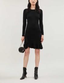 ALTUZARRA Mikey Long-sleeved Ribbed-crepe Dress
