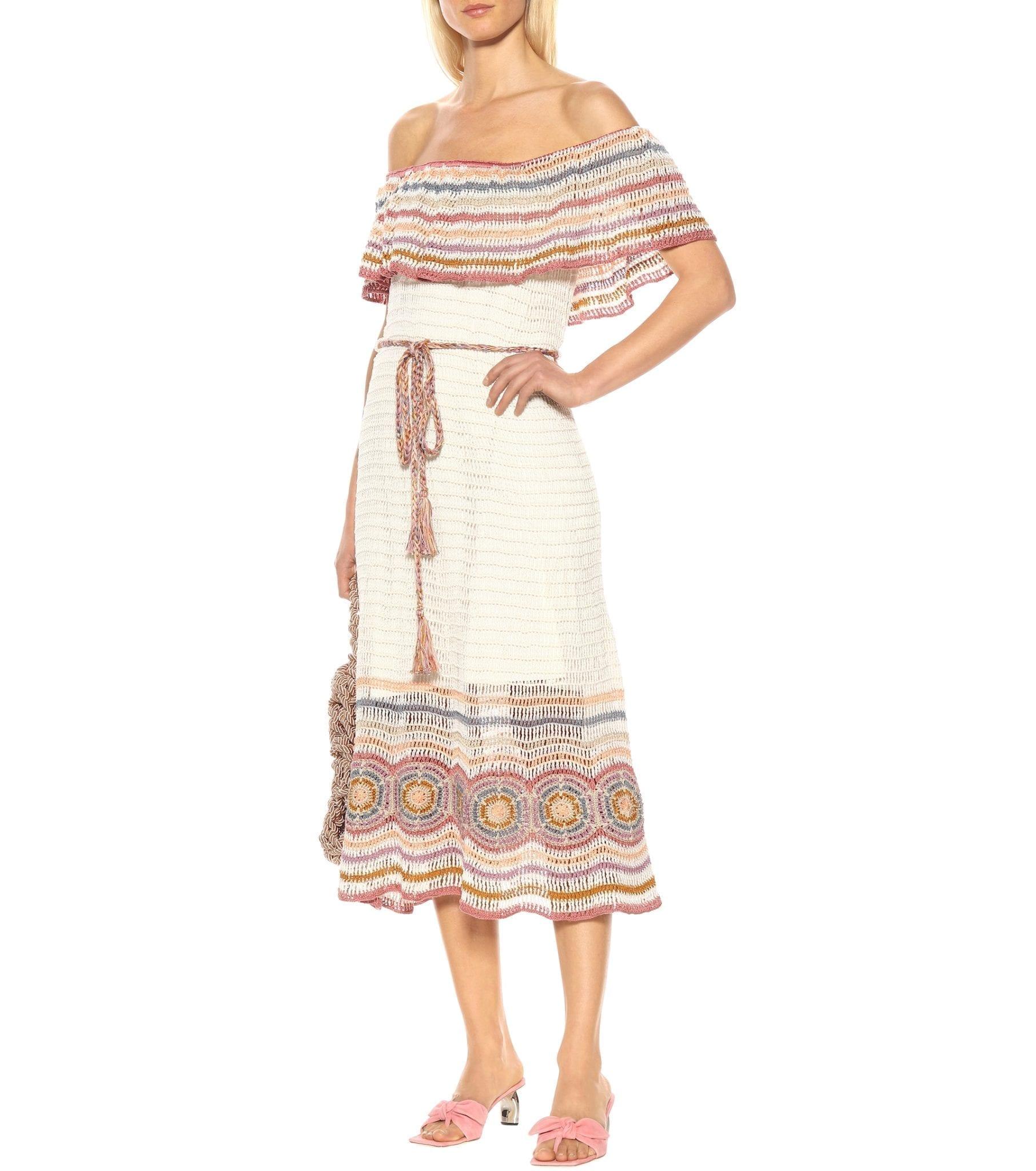 ANNA KOSTUROVA Camen Off-the-shoulder Midi Dress