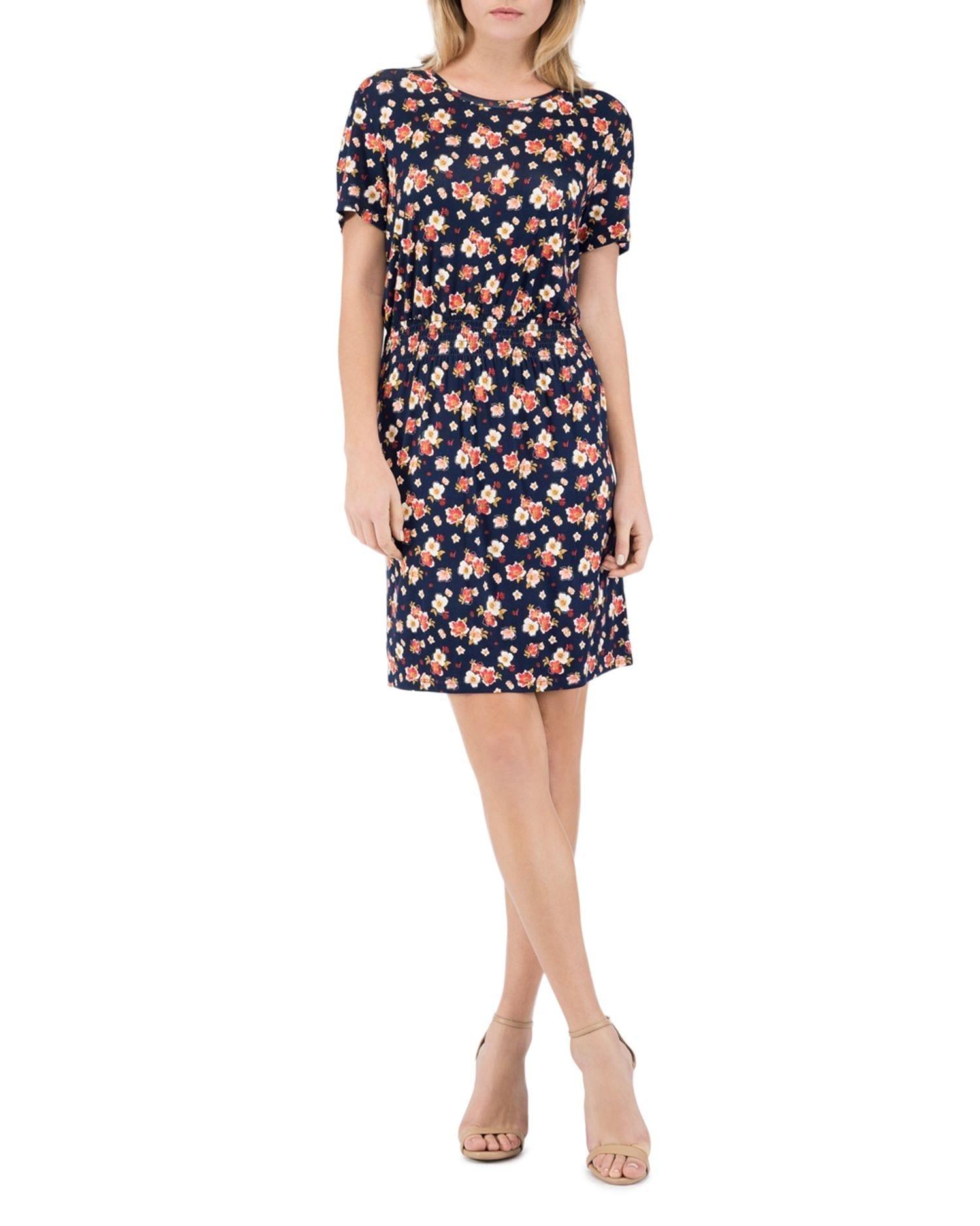 B COLLECTION BY BOBEAU Celeste Smocked-Waist Tee Dress