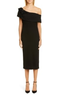 BADGLEY MISCHKA COLLECTION Off the Shoulder Cocktail Dress