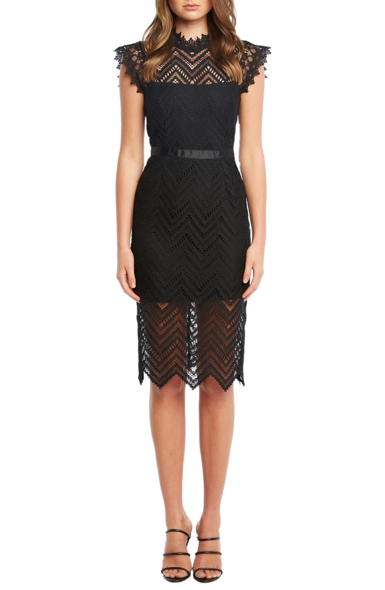 BARDOT Imogen Lace Sheath Dress