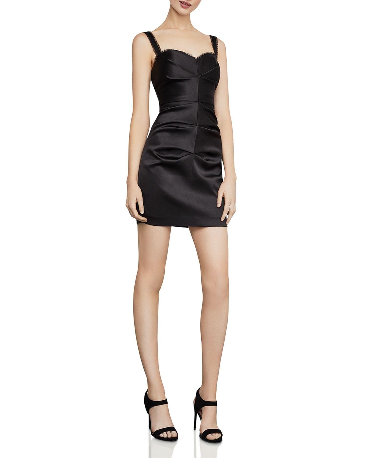 BCBGMAXAZRIA Satin Mini Sheath Dress