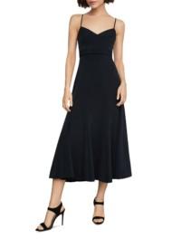 BCBGMAXAZRIA Strappy Flared Midi Dress