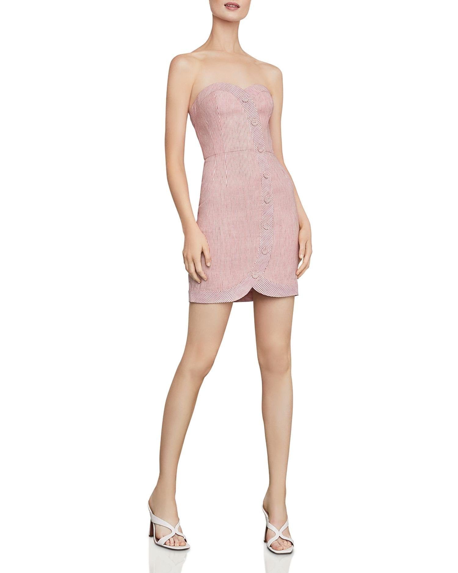 BCBGMAXAZRIA Striped Bustier Sheath Dress