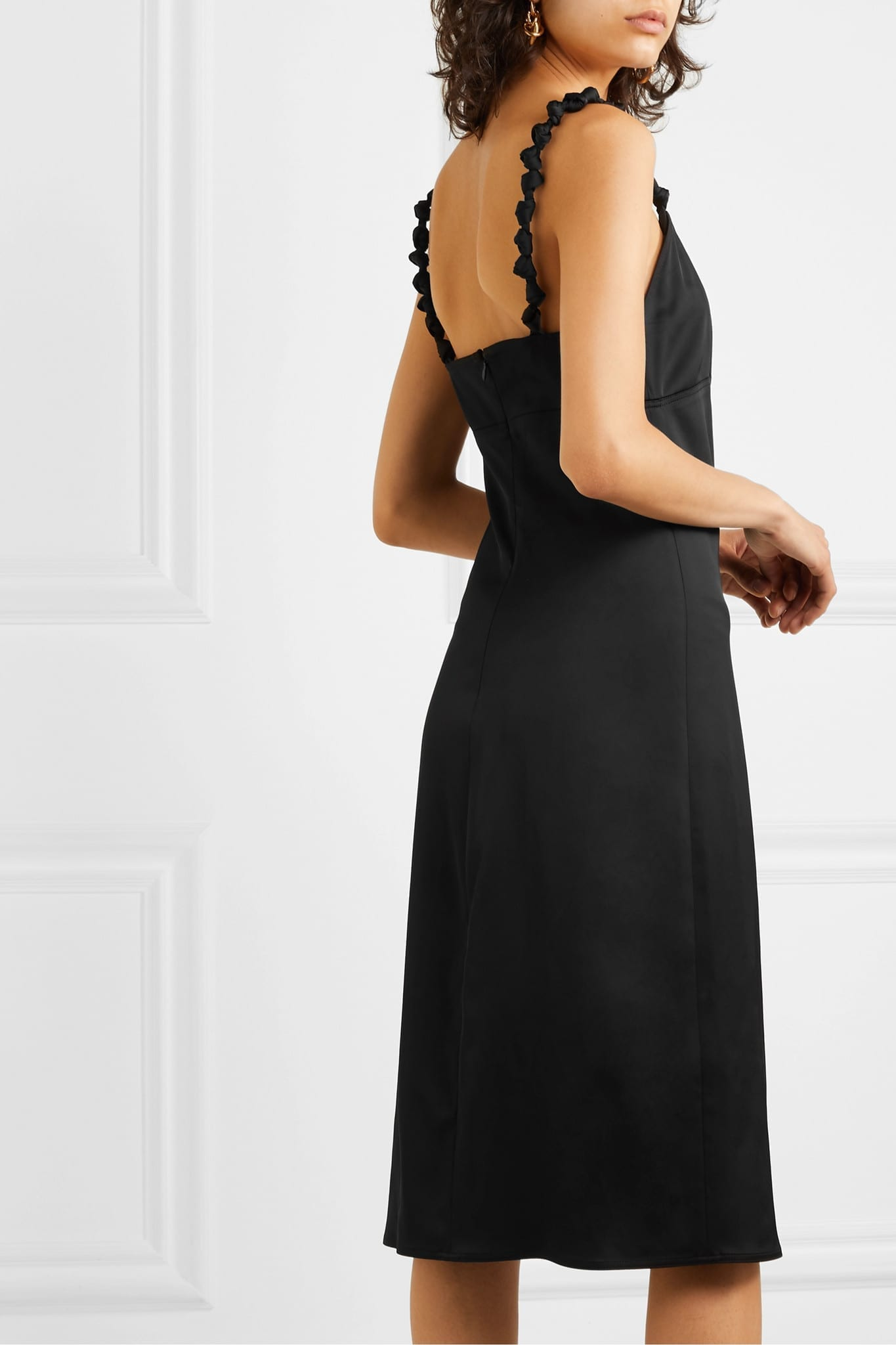 BOTTEGA VENETA Knotted Satin Dress