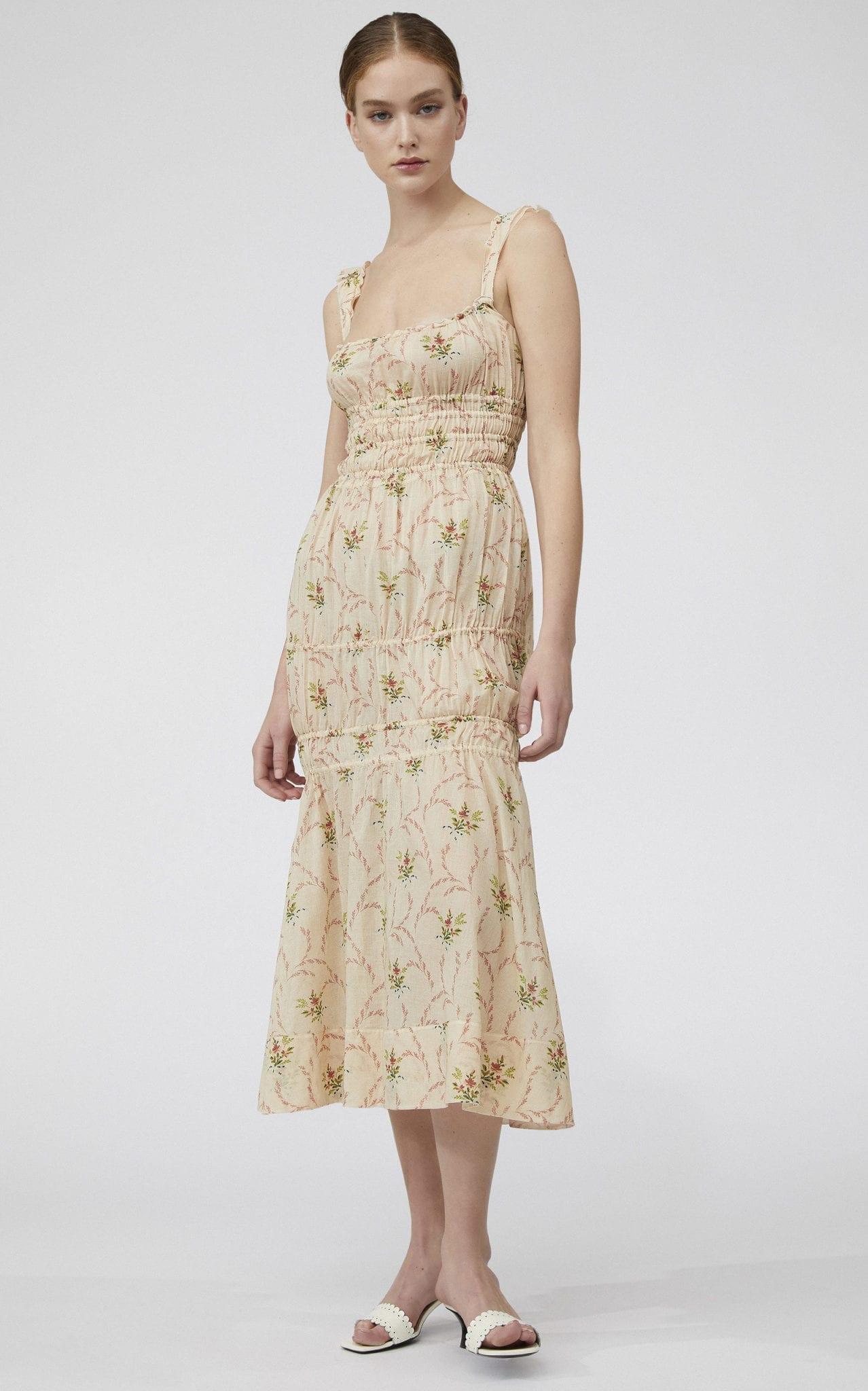 BROCK COLLECTION Prisca Floral Cotton Midi Dress