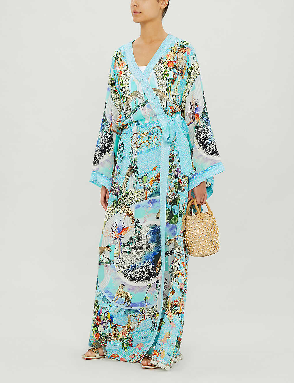CAMILLA Girl From St Tropez Silk Maxi Dress
