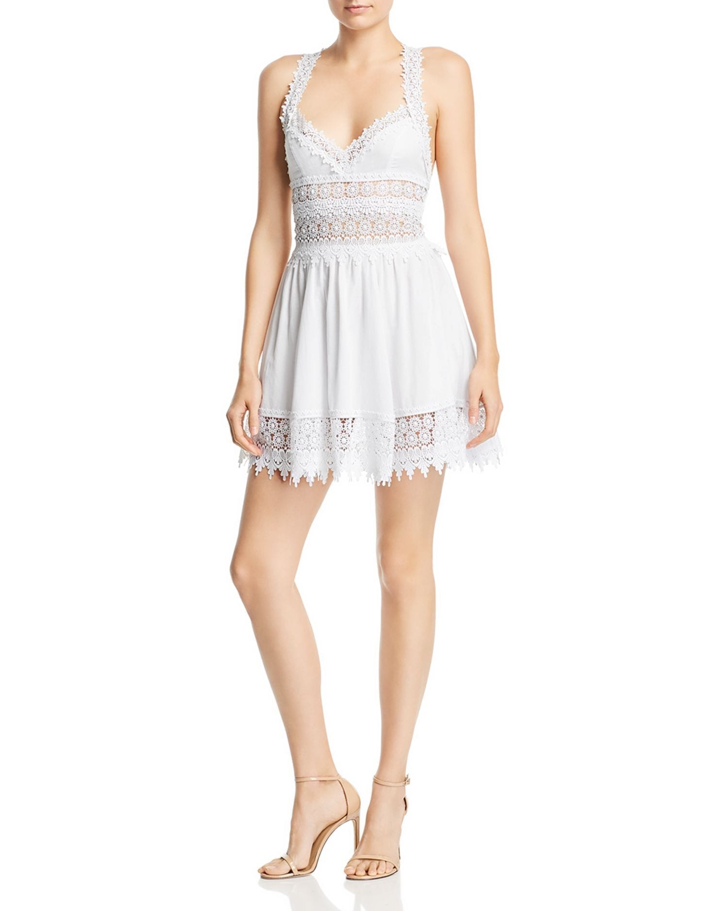 CHARO RUIZ IBIZA Marilyn Lace Mini Dress