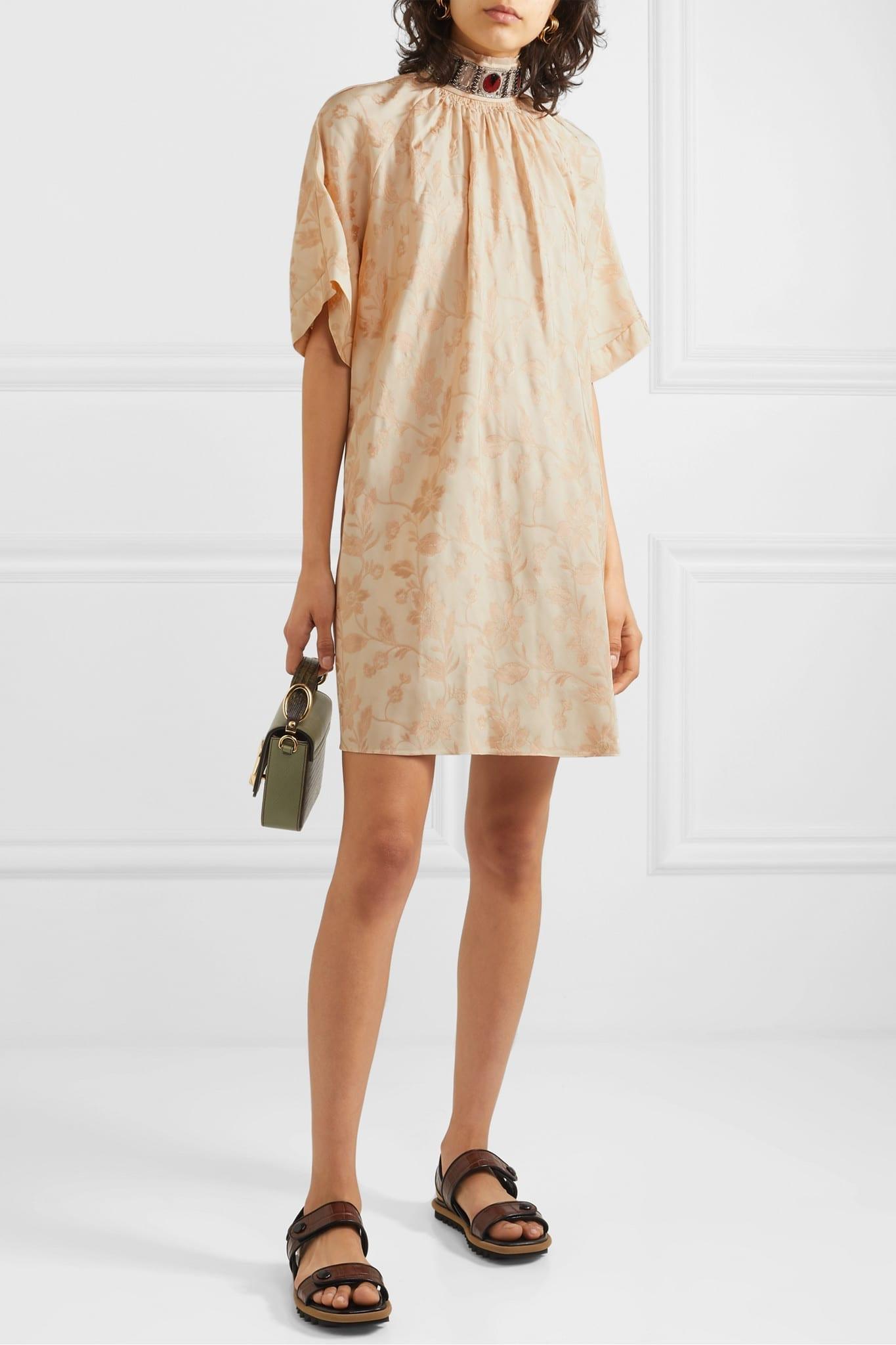 CHLOÉ Embellished Jacquard Mini Dress