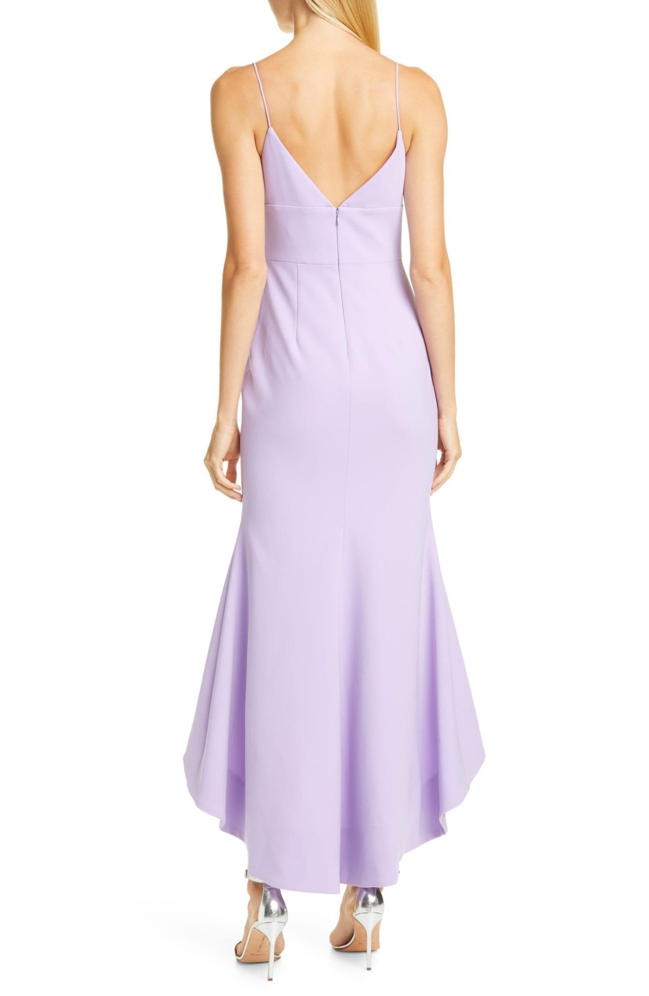 CHRISTIAN SIRIANO V-Neck High Low Slip Dress