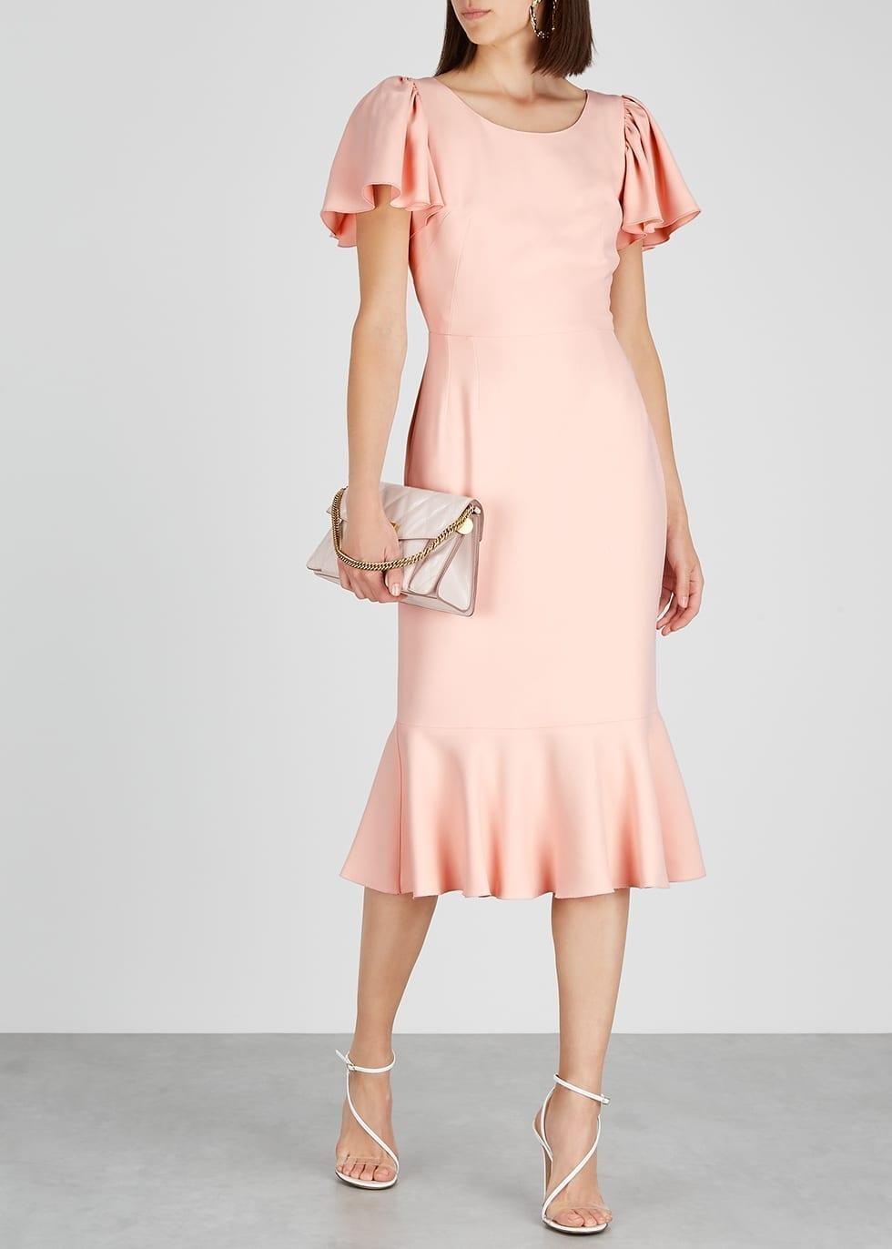 DOLCE & GABBANA Pink Ruffled Cady Dress