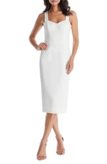 DRESS THE POPULATION Nicole Sweetheart Neck Cocktail Dress