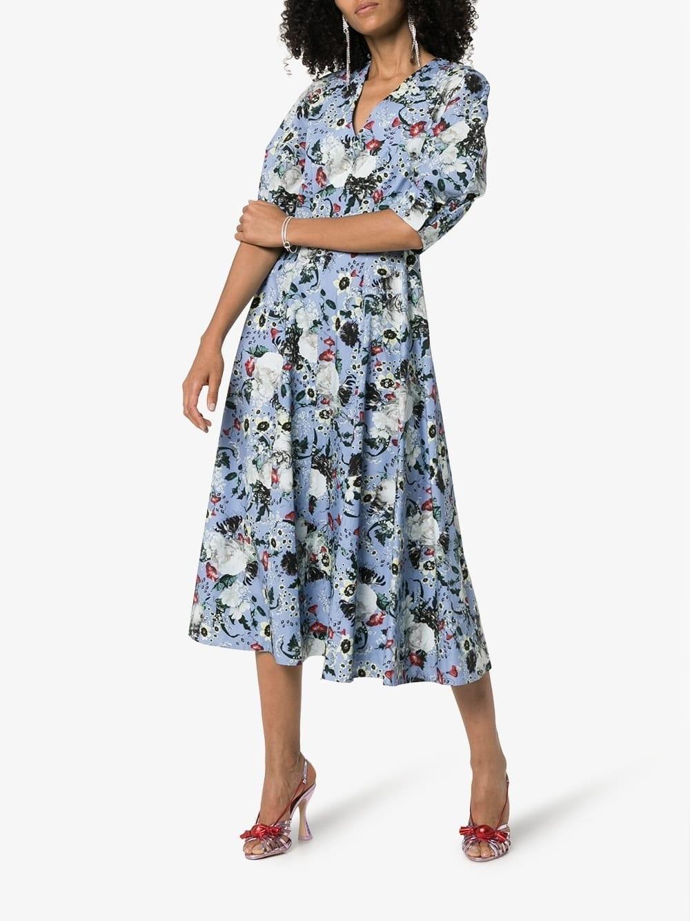 ERDEM Cressida Floral Midi Dress
