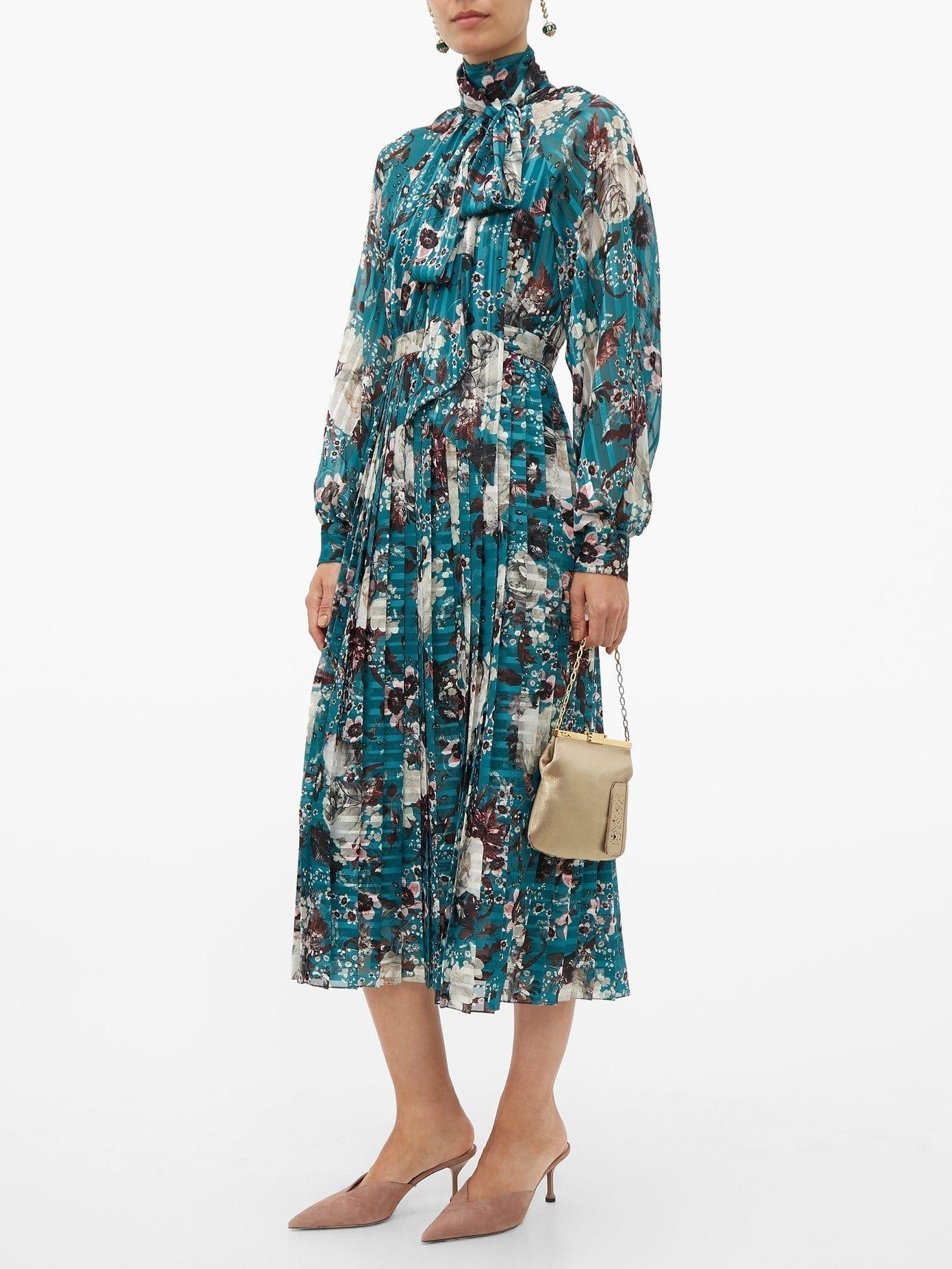 ERDEM Helenia Eastbury-print Midi Dress