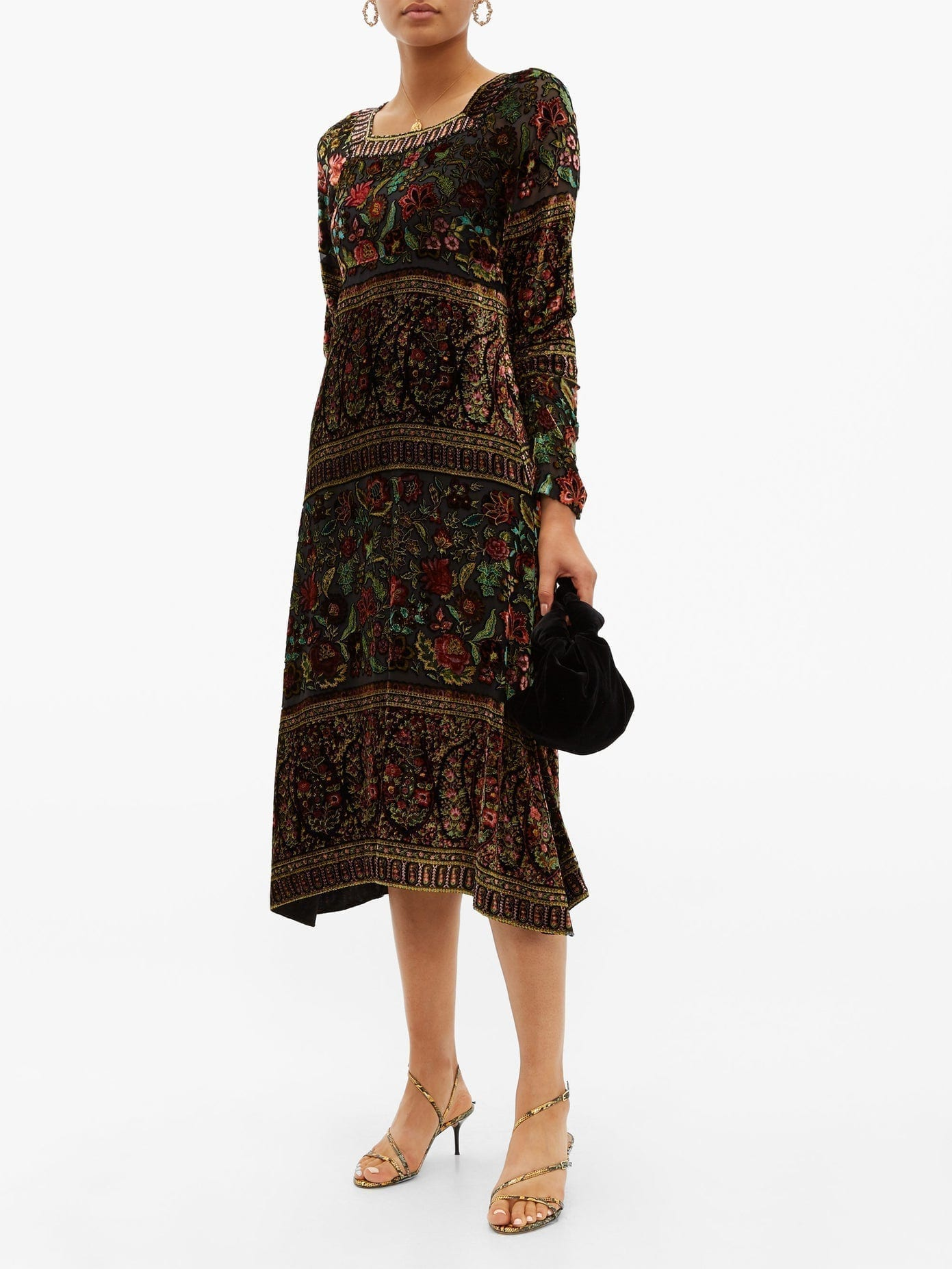 ETRO Bedfordshire Floral-Devoré Dress