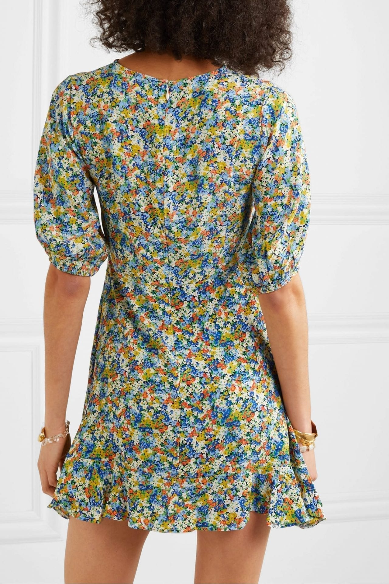 FAITHFULL THE BRAND Jeanette Floral-print Crepe Mini Dress