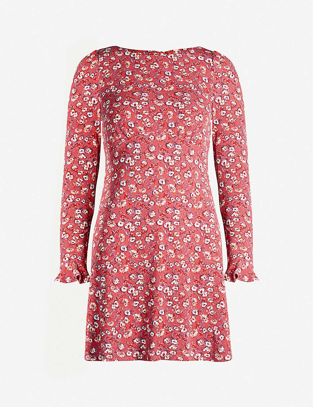 FREE PEOPLE Say Hello Floral-print Crepe Mini Dress