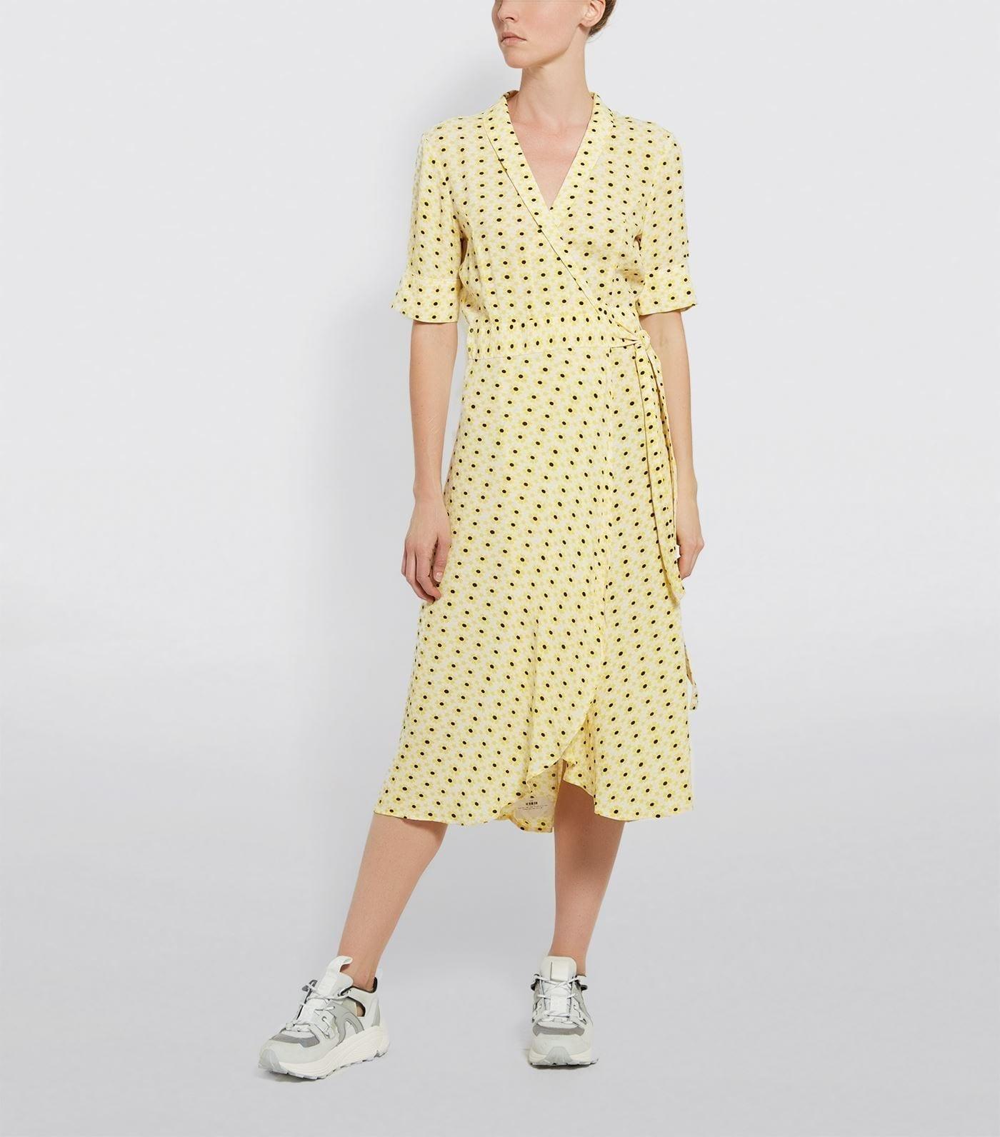 GANNI Midi Wrap Dress