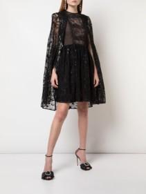 GIAMBATTISTA VALLI Lace-Embroidered Flared Dress