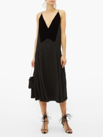 GIVENCHY Lace-trim Pleated Midi Dress